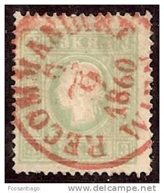 AUSTRIA 1858/59 - Yvert #13 - VFU - 1850-1918 Imperio