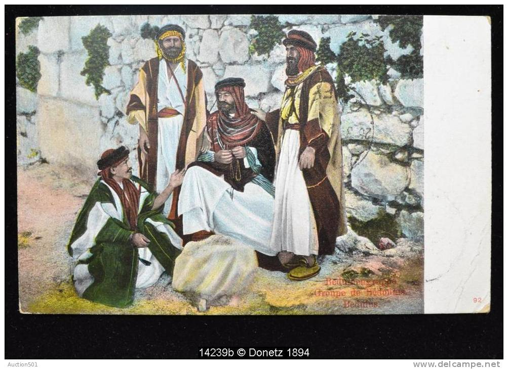 14239 Carte Postale Bédouins De Nasre Nazareth à Andenne (Belgique) Via Port Saïd 04/03/1912 - Palestine