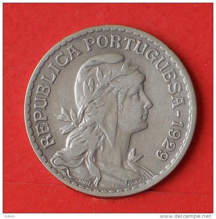 PORTUGAL  1  ESCUDOS  1929   KM# 578  -    (2289) - Portugal