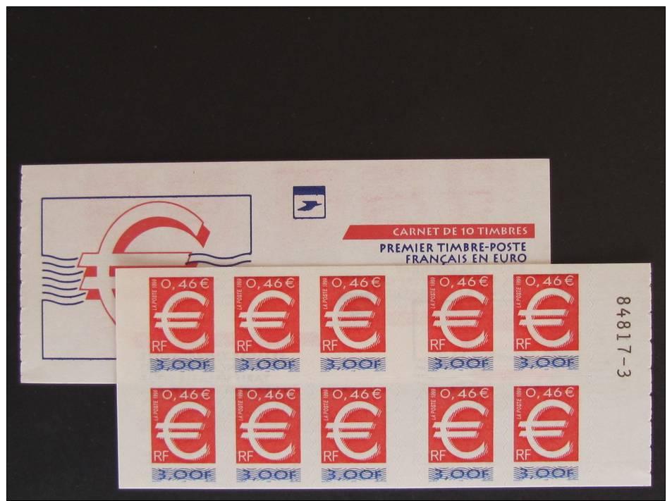 VARIETE Sur Carnet Luquet YT 3215-C1b -   ADHESIF SUR LA COUVERTURE AU LIEU DES TIMBRES - Carnets