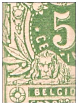 RO@ : Nr 45 In Blok Van 6** POSTFRIS/MNH + CURIOSITEIT : Punt Boven C (a1078) - 1869-1888 Lion Couché