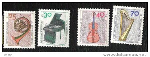 RFA - 1973 - YTn°631 à 634 - Bienfaisance / Musique - [7] West-Duitsland