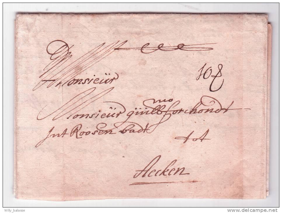 """L. Datée D'ANVERS 1694 + Port """"10 S"""" (10 Schilling) -> Aachen. (traité Entre A De Tassis Et La Ville Impériale Aachen)RR - 1621-1713 (Paesi Bassi Spagnoli)"""