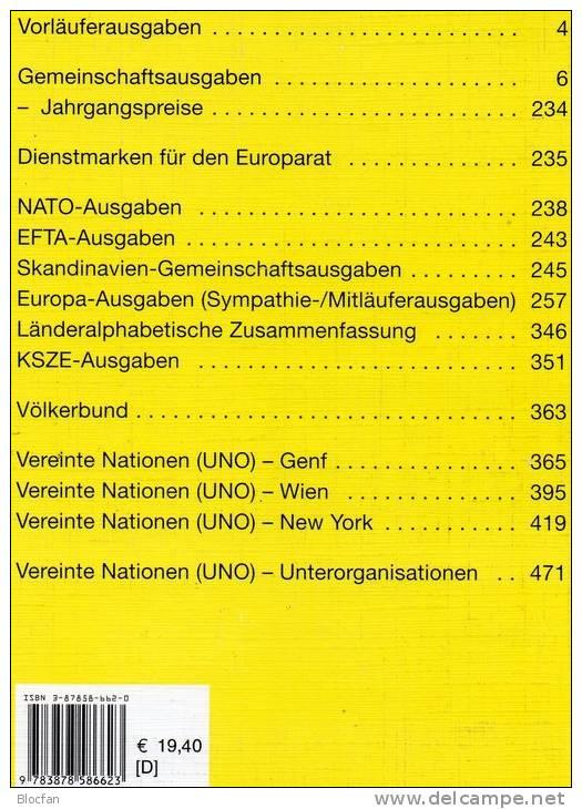 Michel Katalog CEPT+ UNO 2002 Europa-Motiv Antiquarisch 20€ Europarat EFTA Skandinavien- Sympathie- Mitläufer- NATO KSZE - Saber