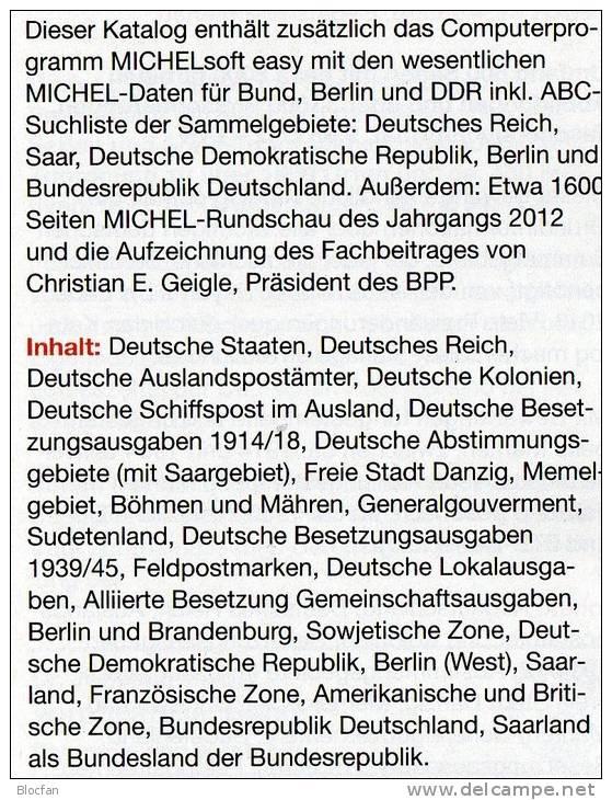 MICHEL Germany Stamps Catalogue+DVD Easy 2013 New 46€ D Baden Bayern Hamburg DR III.Reich Danzig Saar SBZ DDR Berlin BRD - Deutsch