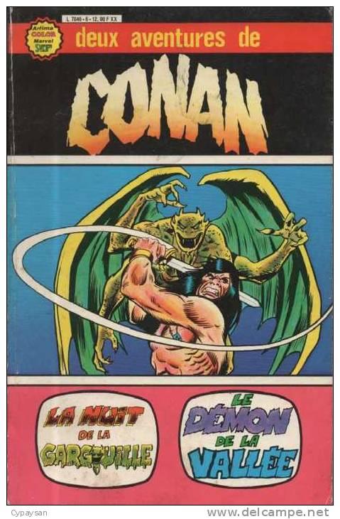 CONAN DEUX AVENTURES ALBUM 1 ( 1 + 2 ) BE AREDIT 07-1979 - Flash