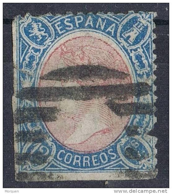 Sello 12 Cuartos 1865, Parrilla Muda, Num 76 º - 1850-68 Reino: Isabel II