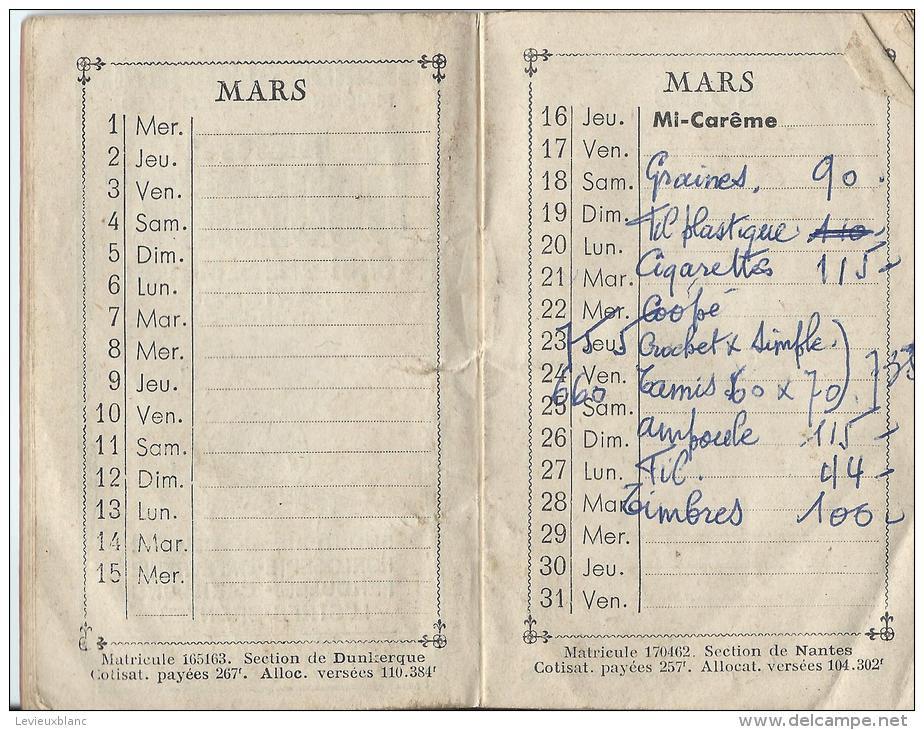 Calendrier -Agenda / Orphelinat Des Chemins De Fer Français/ Paris/ Flamand/ 1950     CAL122 - Tamaño Pequeño : 1941-60