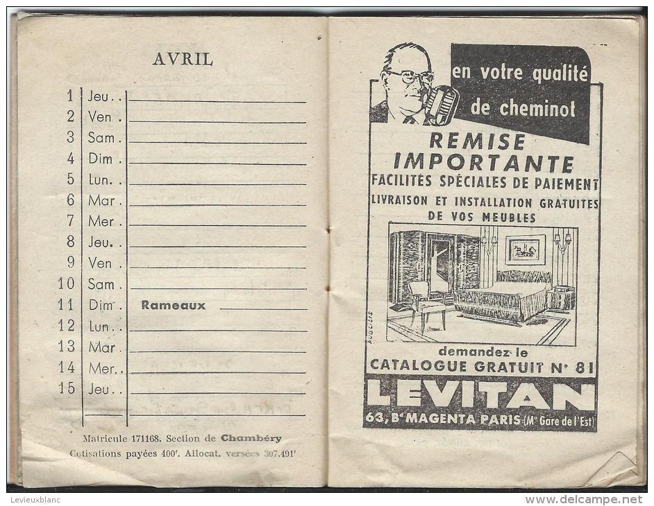 Calendrier -Agenda / Orphelinat Des Chemins De Fer Français/ Paris/ Flamand/ 1954     CAL123 - Calendriers