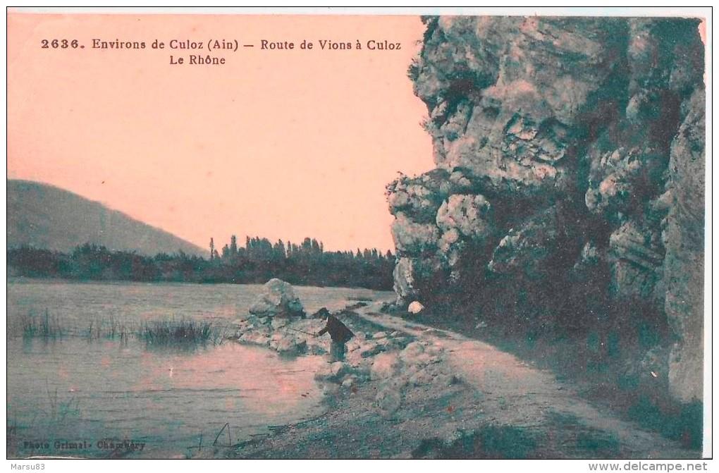 Environs De Culoz. Ed Grimal N° 2636  (26-07-1929) Timbre Semeuse Rouge/orange De 25 Cts - Other Municipalities