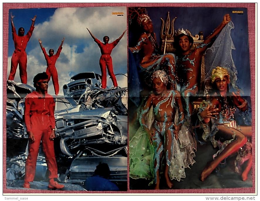 2 Kleine Musik Poster  Gruppe Boney M.  -  Von Bravo Ca. 1982 - Plakate & Poster