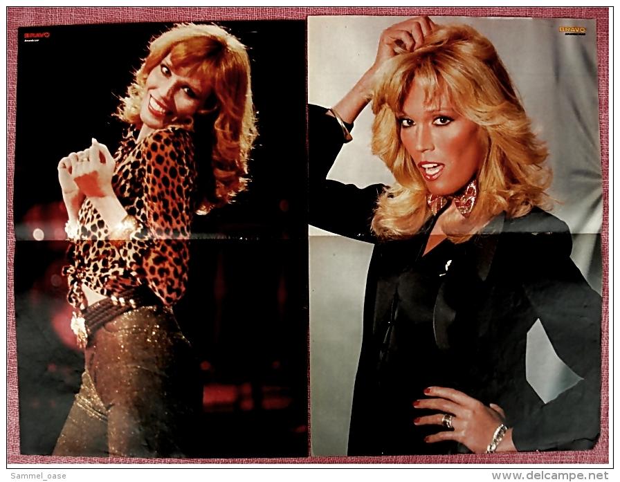 2 Kleine Poster  Amanda Lear  -  Von Bravo Ca. 1982 - Plakate & Poster