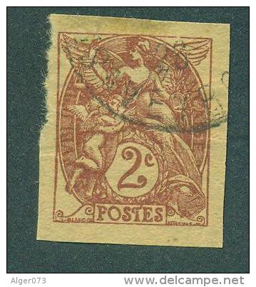 Type Blanc 2c Non Dentele Oblitere - Used Stamps