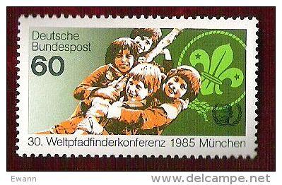 RFA - 1985 - YT N°1086 - Année Internationale De La Jeunesse / Scoutisme - Unused Stamps