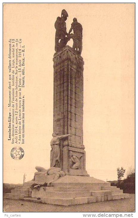 Liège  Monument Aux Héros De Loncin - Liege