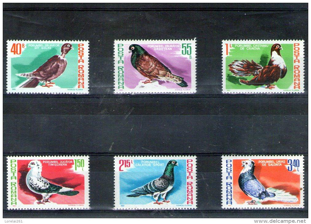 1981 FAUNE/ PIGEONS  Mi 3777/2782 Et Yv 3326/3331 MNH - 1948-.... Republiken