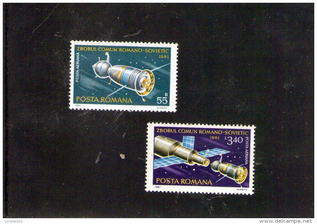 1981 - Intercosmos Sovieto-roumaine Mi 3792/3793 Et Yv P.A. 267/268  MNH - 1948-.... Republiken