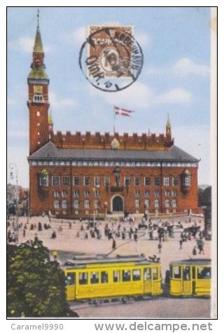 Kopenhagen   København             Raadhuset                 Tram             Scan 4498 - Denemarken