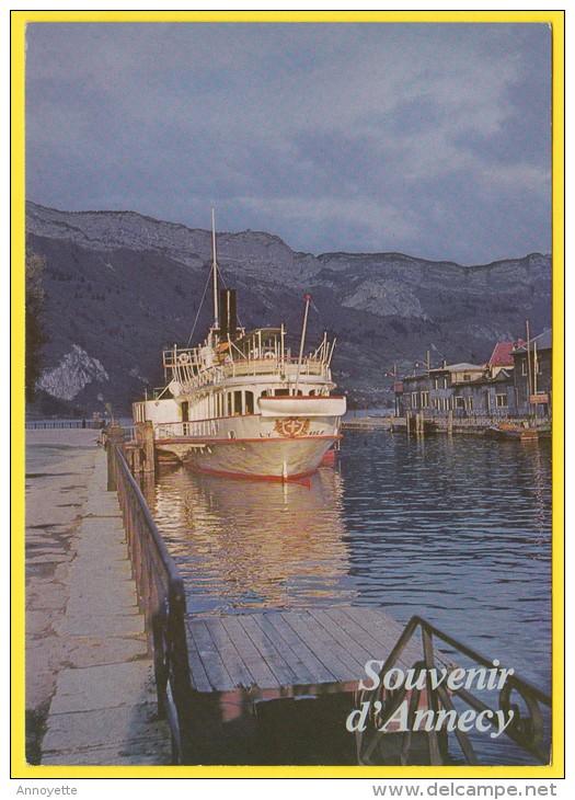 """ANNECY  (Hte-Savoie) Lac Pur - Un Souvenir : Le """"France"""" - Carte écrite - Annecy"""