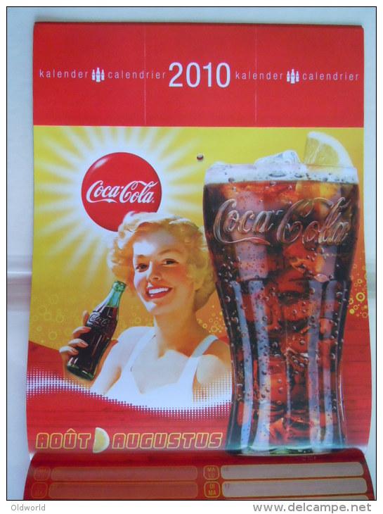 Coca-Cola 2010 Kalender Calendrier Calendar A4 Formaat Uitgifte België Edition Belge - Kalenders
