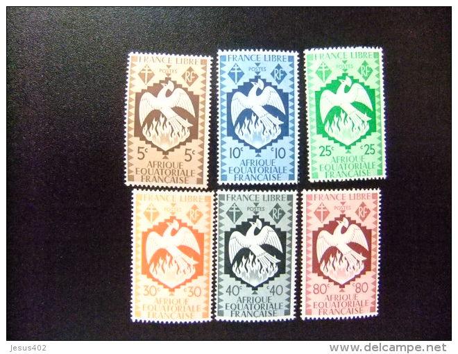 AFRICA EQUATORIAL FRANCESA   A.E.F  Año 1941 Serie De Londres   Yvert Nº 141 / 146 * MH  Incompleta - A.E.F. (1936-1958)
