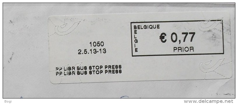 België 2013 PP Libr Bus Stop Press 1050 - Logo Bpost - Frankeervignetten