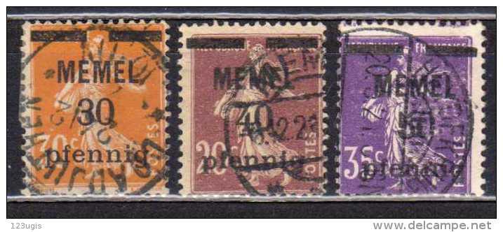 Memel 1920 Mi 21-23, Gestempelt [180513L] @ - Memelgebiet