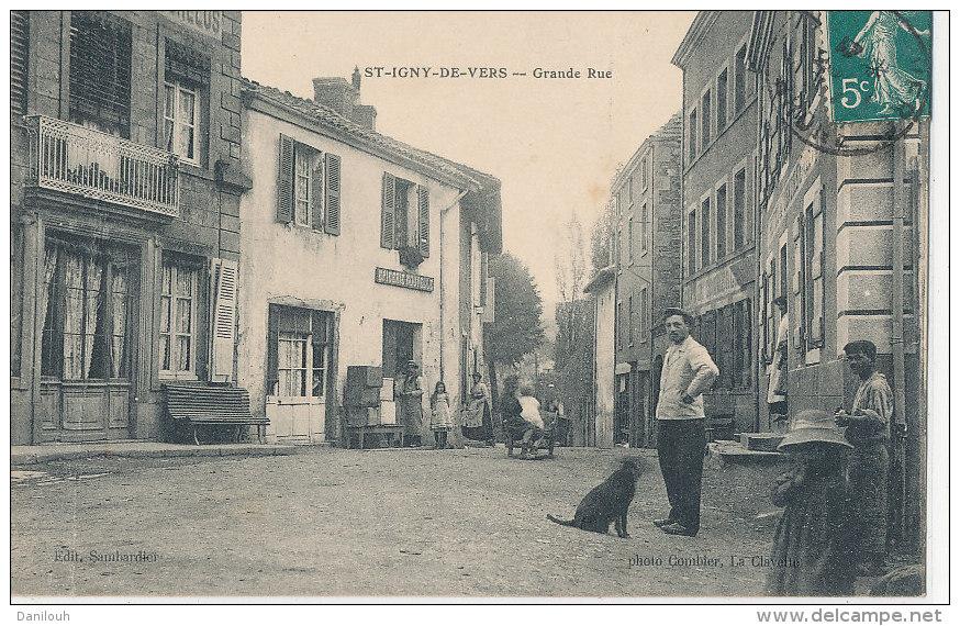 69 // SAINT IGNY DE VERS   Grande Rue   ANIMEE  ** - France