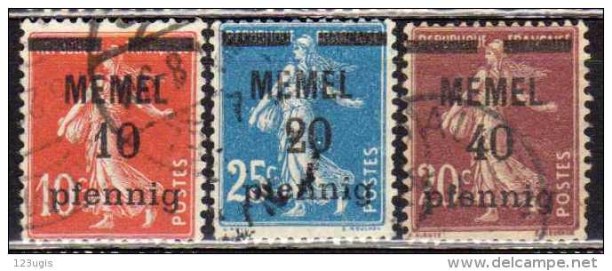Memel 1920 Mi 19-20; 22, Gestempelt [190513L] @ - Memelgebiet