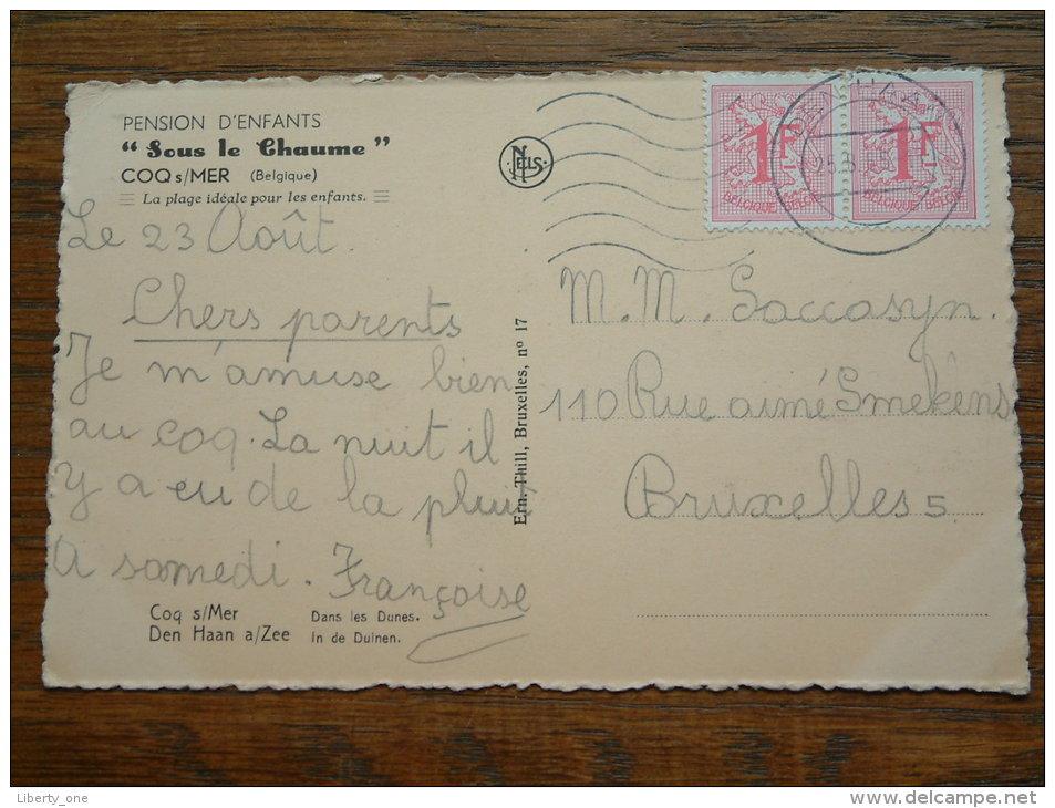 """In De Duinen ( Pension D'Enfants """" Sous Le Chaume """" ) Anno 1965 ( Zie Foto Voor Details ) !! - De Haan"""
