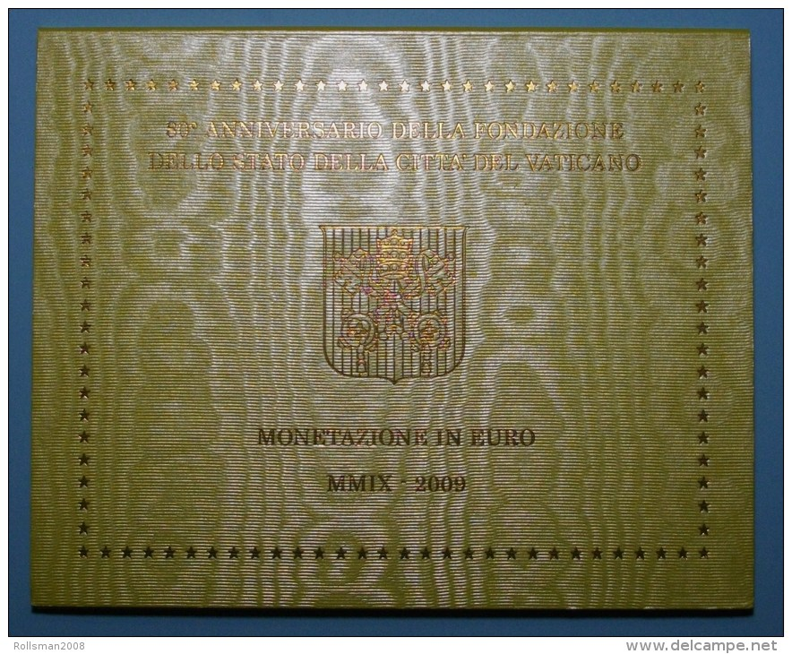 SERIE €URO  COMPLETE VATICAN 2009 FDC (Uncirculated) In BLISTER  MUCH RARE BUY IT  IN AUCTION - Vatican