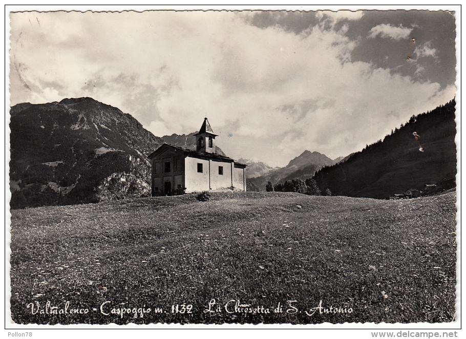VALMALENCO - CASPOGGIO - LA CHIESETTA DI S. ANTONIO - SONDRIO - 1957 - Sondrio