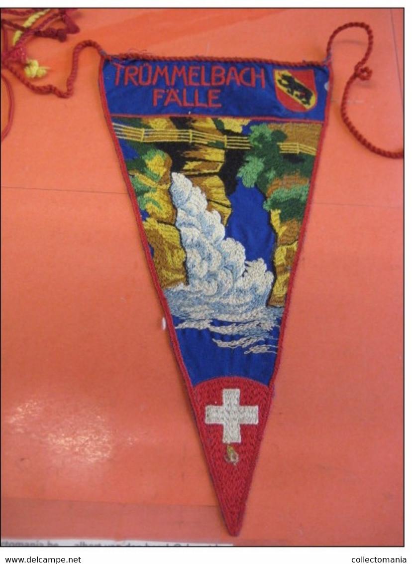 12  Drapeaux  VELO Fietsvlaggen Circa 1920 à 1930 Textiel  Vaantje Fanion Wimpel Vlag Flagge Vlag Suisse Schweiz Zwitser - Patches