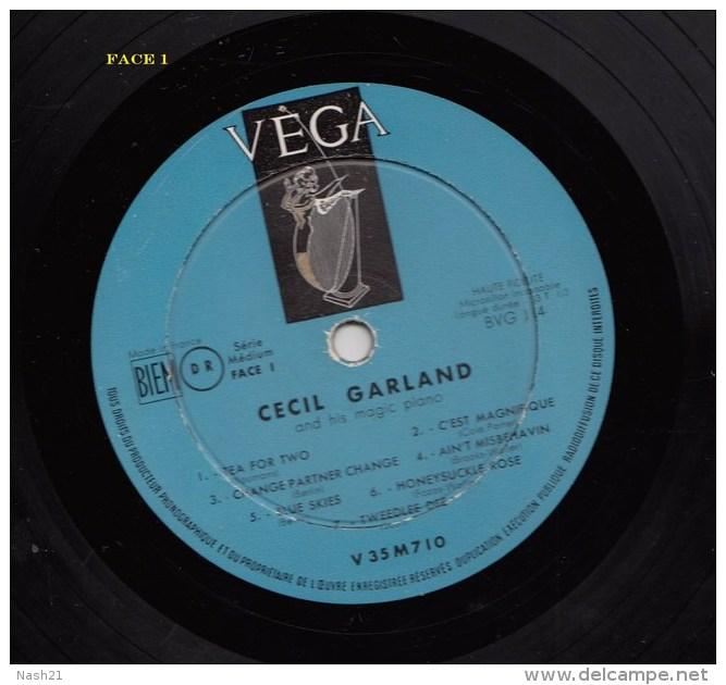-   Disque De Jazz  - 33 Tours L.P. - Cecil Garland And His Magic Piano - Série I - - Jazz