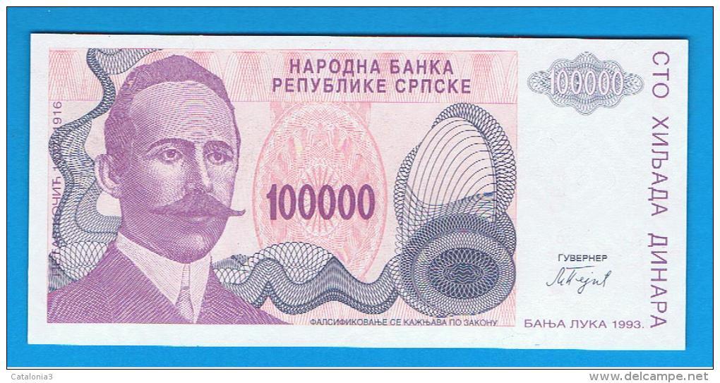 BOSNIA  (Serbia) - 100.000  Dinara 1993  SC  P-151 - Bosnia Y Herzegovina