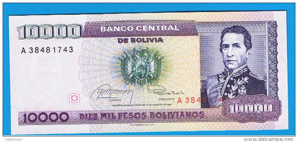 BOLIVIA - 10.000 Pesos Bolivianos 1984 SC   P-168 - Bolivia