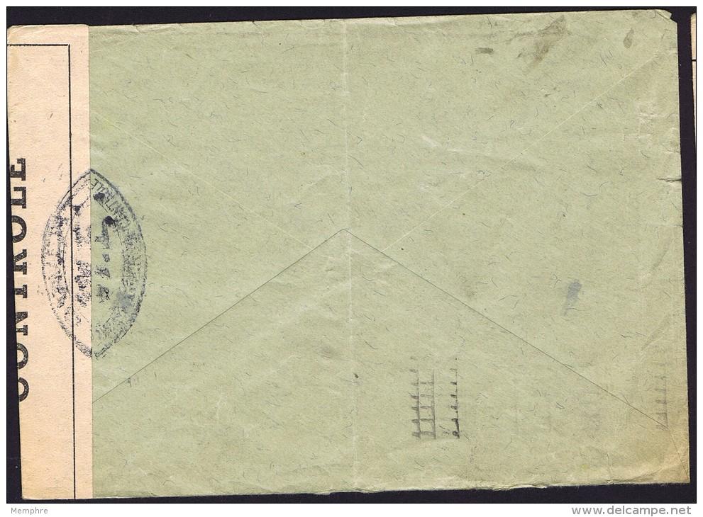 1941  Lettre De Suisse Pour Montluçon  Censure «Ouvert Par Les Autorités De Contrôle W. E.» - France