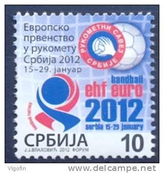 SRB 2012-ZZ EU CHAMPIONSHIP IN HANDBALL, SERBIA, 1 X 1v, MNH - Serbien