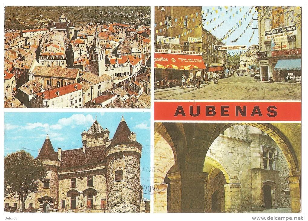 Dépt 07 - AUBENAS - (CPSM Grand Format) - Multi-Vues - France