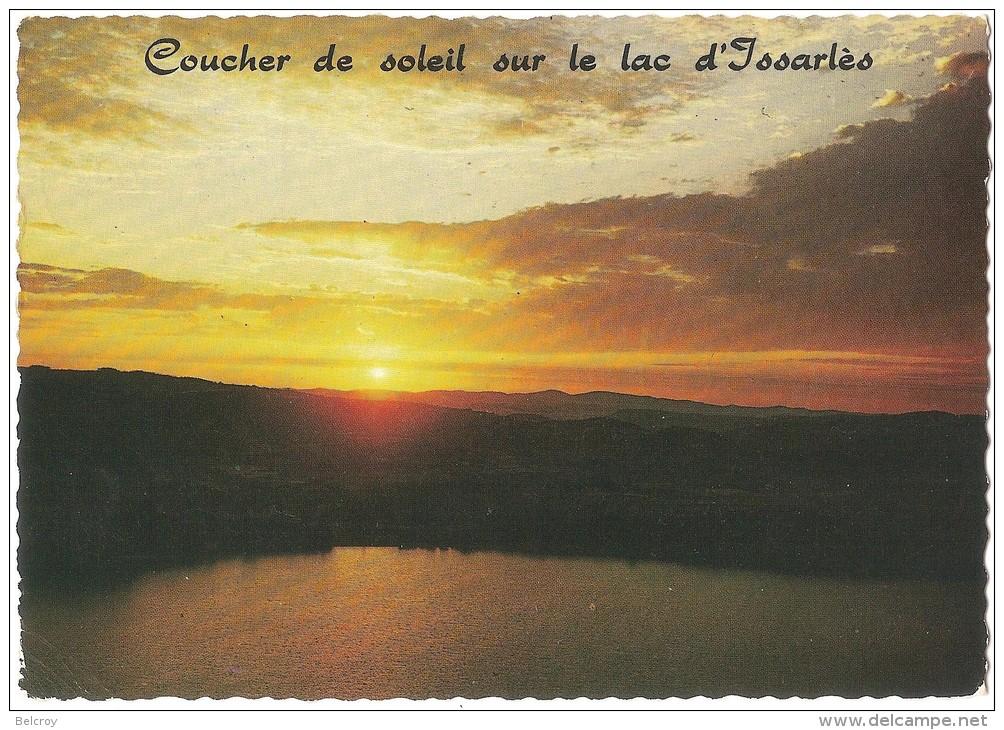 Dépt 07 - ISSARLÈS - (CPSM Grand Format) - Le Lac D´Issarlès - Cratère D´un Ancien Volcan, Coucher De Soleil Sur Le Lac - France