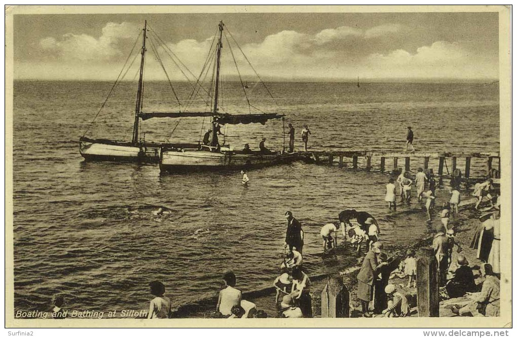 CUMBRIA - SILLOTH - BOATING AND BATHING Cu371 - Cumberland/ Westmorland