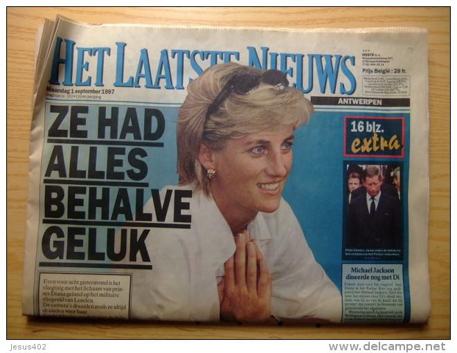 HET LAATSTE NIEUWS       VAN PRINSES DIANA DE GALES 1961 -1997 - Revistas & Periódicos