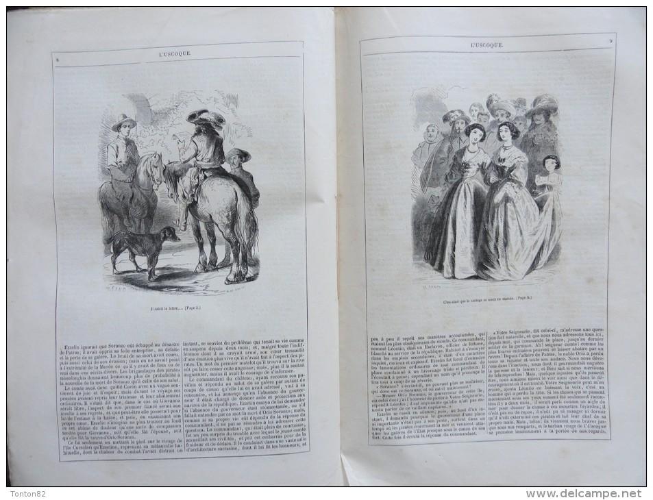"""George Sand - Illustré Par Tony Johannot Et Maurice Sand - """"  L' Uscoque """" - Édition J. Hetzel  - ( 1854 ) . - 1801-1900"""