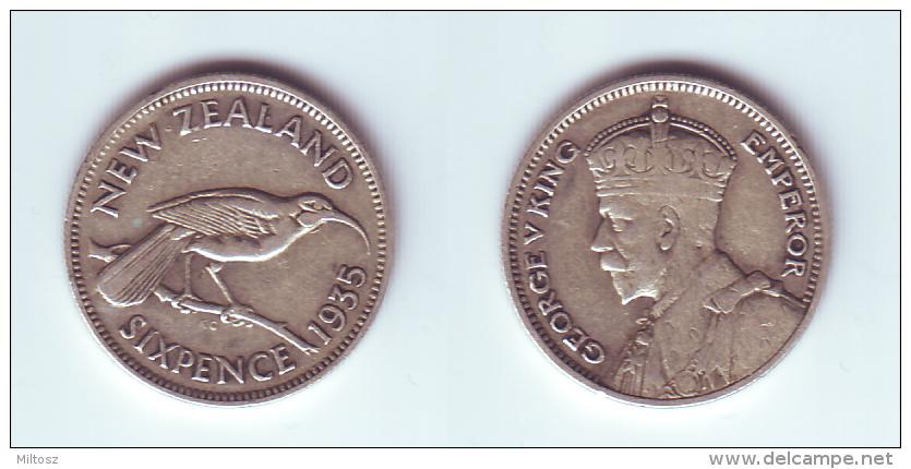 New Zealand 6 Pence 1935 - New Zealand