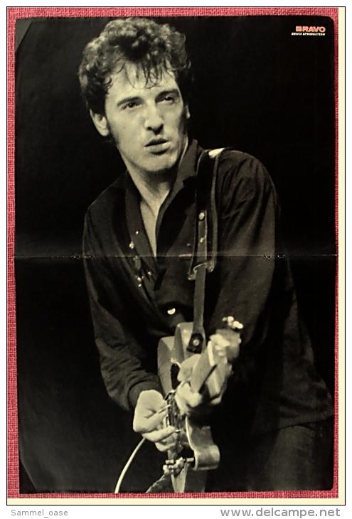 Kleines Poster  -  Bruce Springsteen  -  Rückseite : Mädchen  -  Von Bravo Ca. 1982 - Plakate & Poster