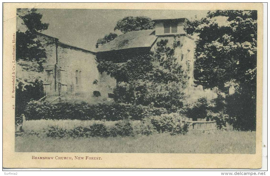 HANTS - BRAMSHAW CHURCH 1907 Ha151 - England