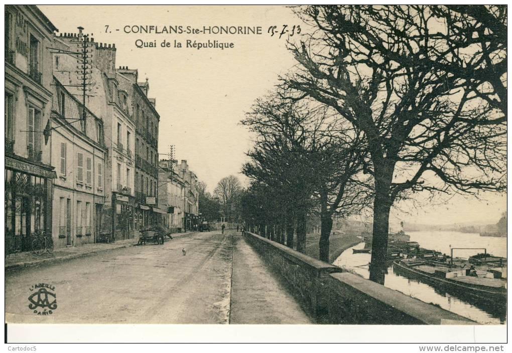 Conflans-Ste-Honorine  Quai De La République  Cpa - Conflans Saint Honorine