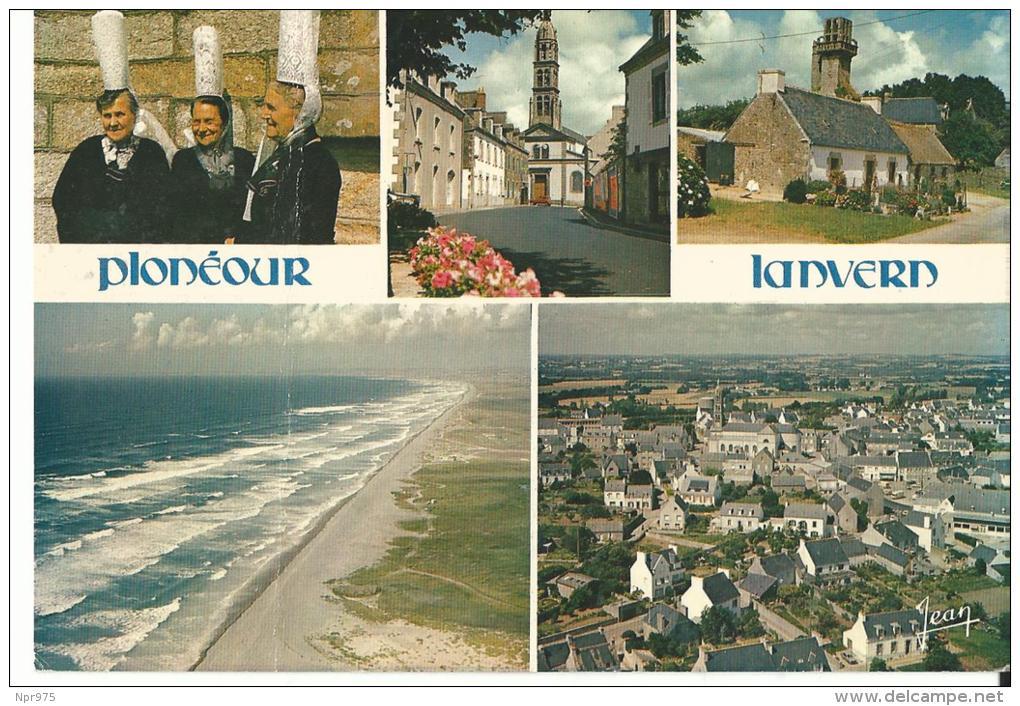 29 Plouneour Lanvern Coiffe Et Costume Bigoudenne Rue Du Bourg  Village De Languivoa Et Sont Clocher - Autres Communes
