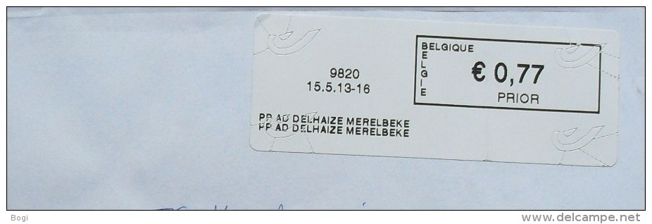 België 2013 PP AD Delhaize Merelbeke 9820 - Logo Bpost - Vignettes D'affranchissement