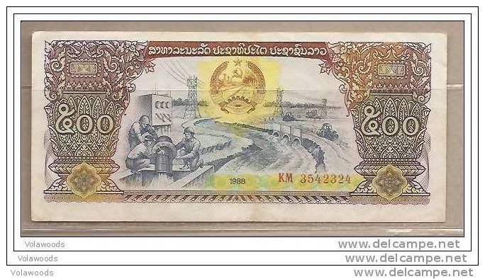 Laos - Banconota Circolata Da 500 Kip - 1988 - Laos